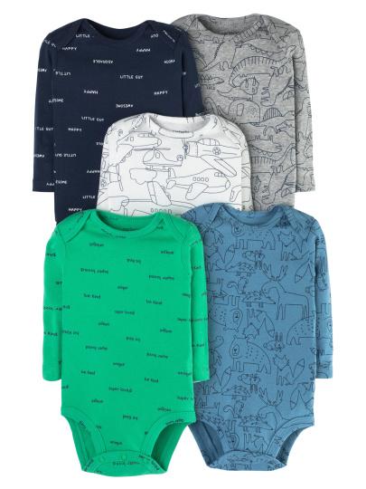 חמישיית בגדי גוף דפוסים גדולים