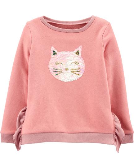 סוודר פייטים חתול