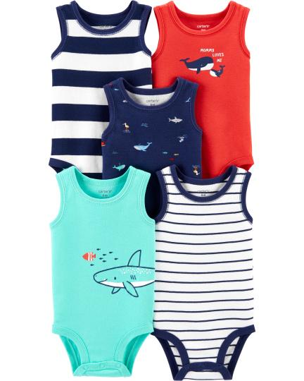 חמישיית בגדי גוף גופייה דולפין