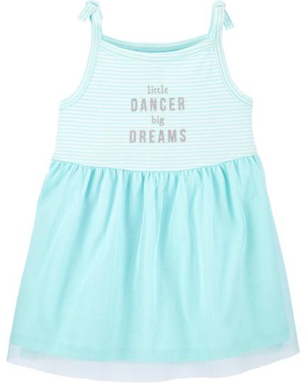 שמלת רקדנית תכלת