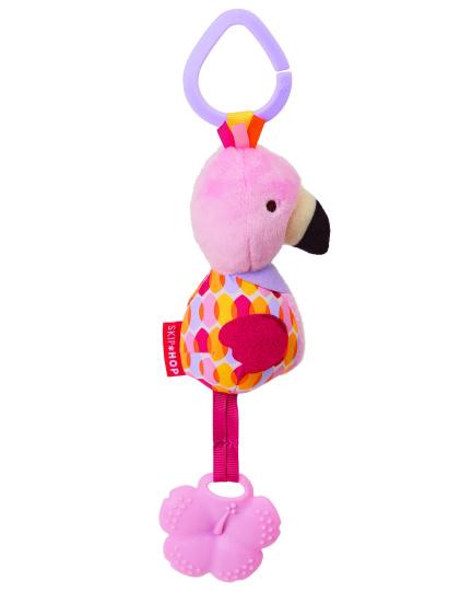 צעצוע לעגלה עם נשכן- פלמינגו