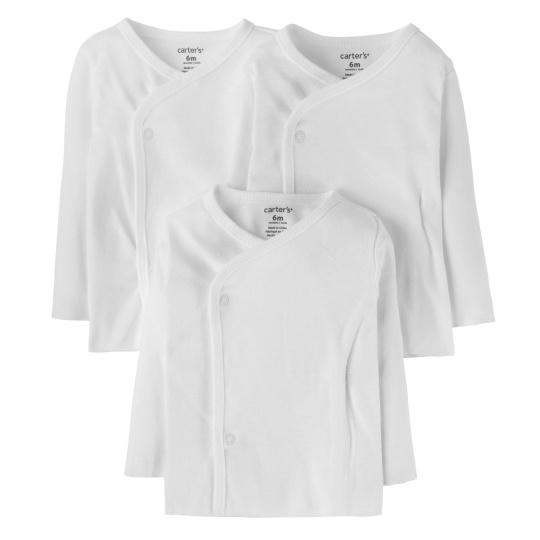 שלישיית חולצות מעטפת לבן