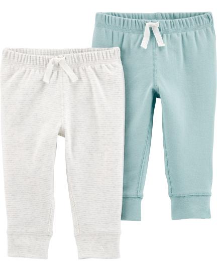 זוג מכנסיים תכלת/לבן