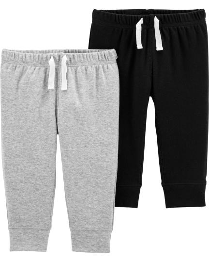 זוג מכנסיים מלאנג'/שחור