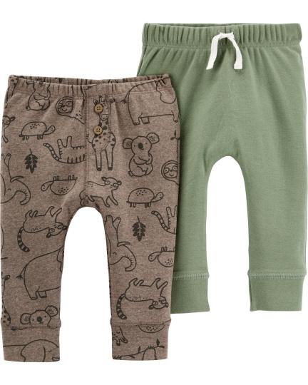 זוג מכנסיים קומופלאג'/חום