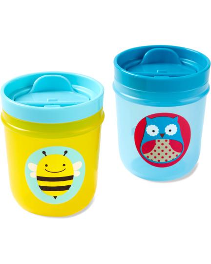 זוג כוסות שתייה לילדים- ינשוף/דבורה