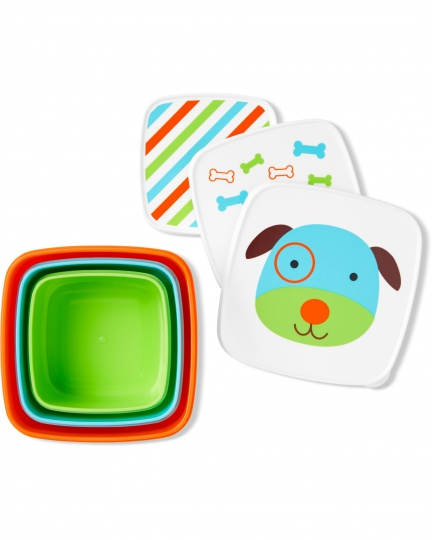 סט 3 קופסאות איחסון - כלב
