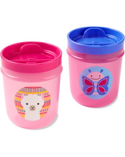 זוג כוסות שתייה לילדים- פרפר/לאמה