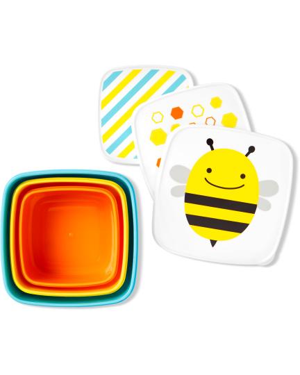 סט 3 קופסאות איחסון - דבורה