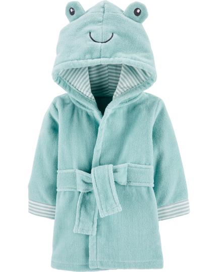 חלוק מגבת כחול