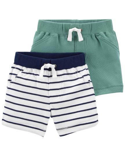 זוג מכנסיים פסים ירוק