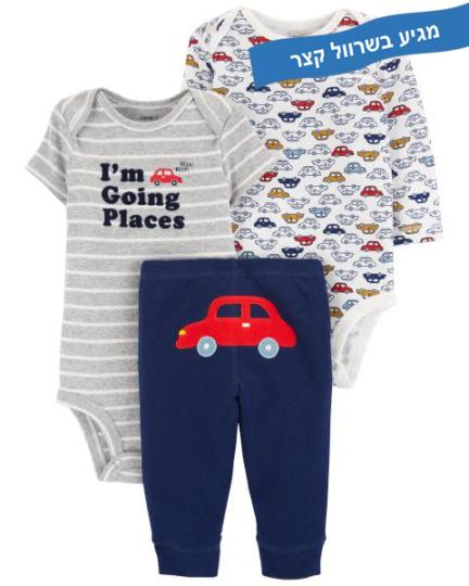 זוג בגדי גוף ומכנס מכונית