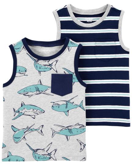 זוג גופיות כרישים/פסים