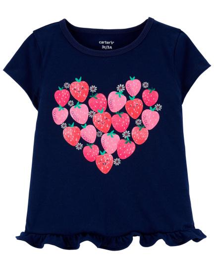 חולצת טי לב תותים