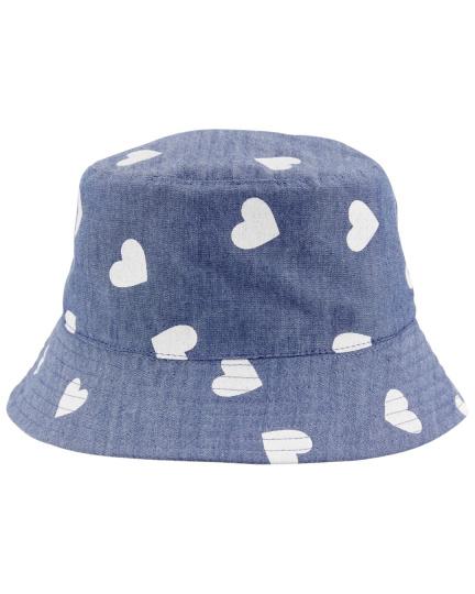 כובע דו צדדי שמברה ורוד בהיר