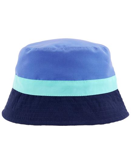 כובע דו צדדי פסים חלק