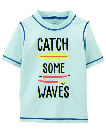 חולצת גלישה WAVES שרוול קצר