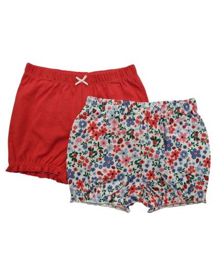 זוג מכנסיים קצרים פוקסיה פרחוני