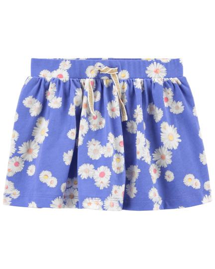חצאית מכנס פרחים כחול