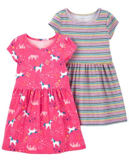 זוג שמלות חד קרן פסים