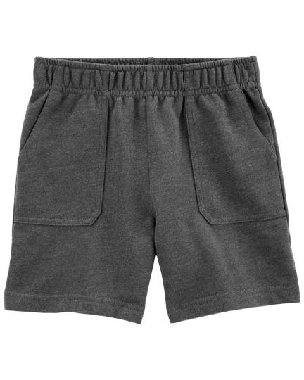 מכנס פרנץ טרי כיסים אפור כהה