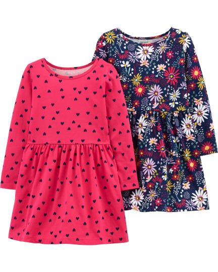 זוג שמלות פרחים