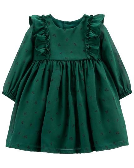 שמלת שיפון ירוקה