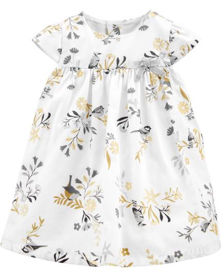 שמלת אריג ציפורים
