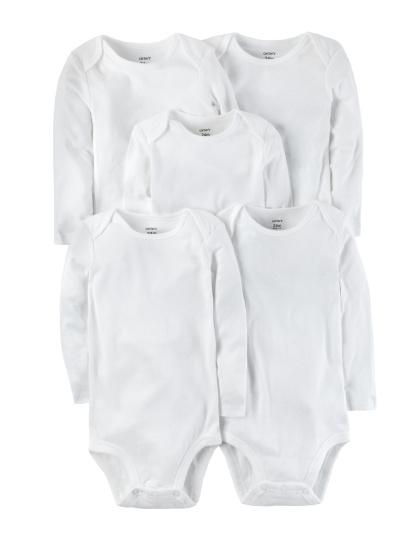 חמישיית בגדי גוף ארוך לבן