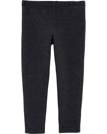 טייץ דמוי ג'ינס שחור