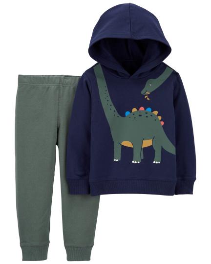 חליפת 2 חלקים פליז דינוזאור